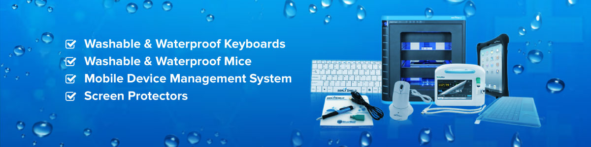 waterproof & washable medical grade keyboards and mice
